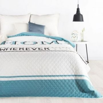Narzuta 170x210 Design 91 DENNI biały+niebieski