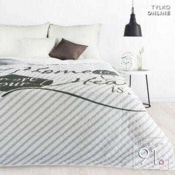 Narzuta 200x220 Design 91 ALVA biały+srebrny