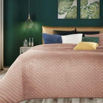 Narzuta na łóżko 220x240 DIMON pudrowy