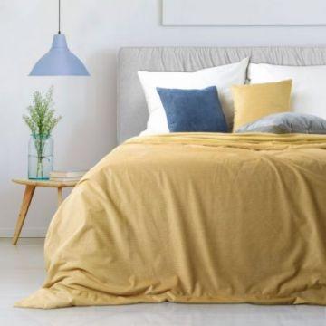 Narzuta na łóżko 220x240 IBBIE musztardowy