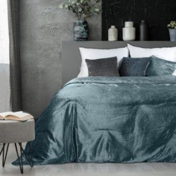 Narzuta na łóżko 220x240 MADY c.turkus