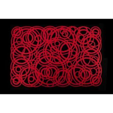 Podkładka filcowa 30x120 E CAROL czerwony