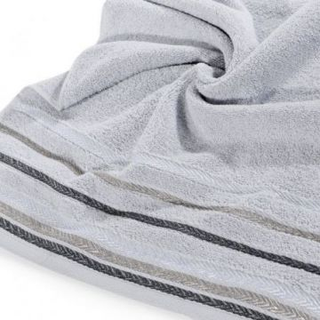 Ręcznik Eurofirany LIVIA 50x90 srebrny