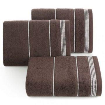 Ręcznik Eurofirany MIRA 50x90 brązowy