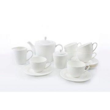 Serwis kawowy 15-częściowy 6 osób LEONE