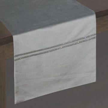 Bieżnik 35x180 Eurofirany GLEN srebrny