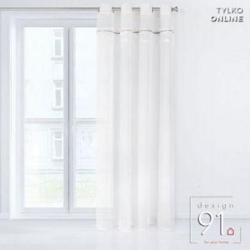 Zasłona gotowa Design 91 140x250 DENISE biały