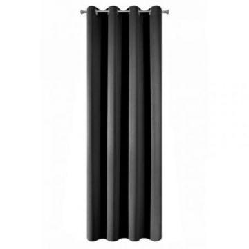 Zasłona gotowa Eurofirany 135x250 LOGAN czarny