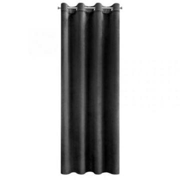 Zasłona gotowa Eurofirany 140x250 MELANIE czarny