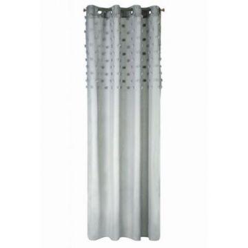 Zasłona na przelotkach 140x250 D91 STELLA srebrny