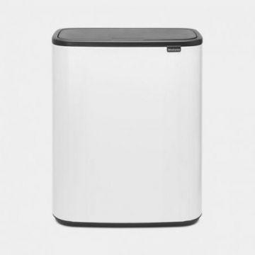 Kosz Bo Touch Bin 2 komory 2x30l biały - Brabantia