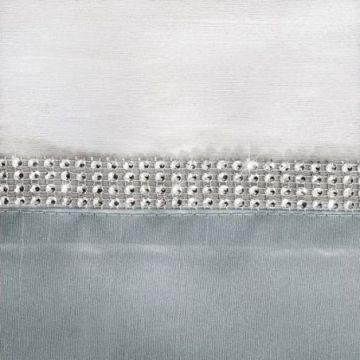Bieżnik 40x140 Eurofirany TIARA2 srebrny+bialy
